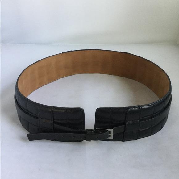 28b8ac24a29b1 CHANEL Accessories | Authentic Black Leather Belt 8032 | Poshmark